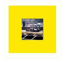 24 h de Le Mans - Vintage - Bentley #7 back Art Print