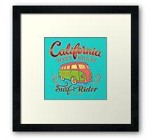 California Surf Rider Beach - Boogie Burn Burns it up! Framed Print