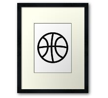 Basketball sport ball Framed Print
