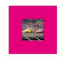 24 h de Le Mans - Vintage - Porsche Art Print