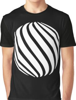 Abstract swirl sphere - version 2 - white Graphic T-Shirt