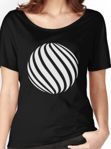 Abstract swirl sphere - version 2 - white Women's Relaxed Fit T-Shirt