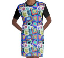 Hibiscus Pop - Boogie Burn blasts out awesome patterns! Graphic T-Shirt Dress