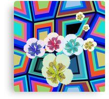 Hibiscus Pop - Boogie Burn blasts out awesome patterns! Canvas Print
