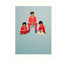 Chas, Ari, Uzi Art Print