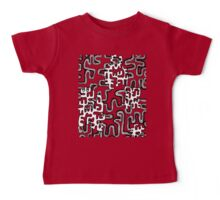 A Maze Ing Black and White Tangle Transparent Background Baby Tee