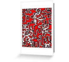 A Maze Ing Black and White Tangle Transparent Background Greeting Card
