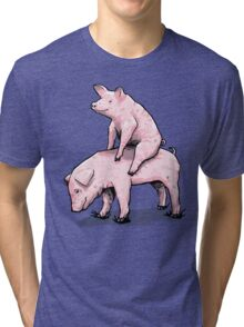 Piggy Back Ride Tri-blend T-Shirt