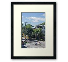 City Cyclists Framed Print