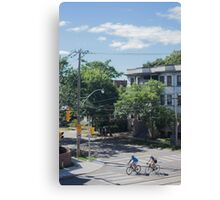 City Cyclists Canvas Print