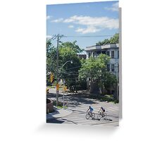City Cyclists Greeting Card