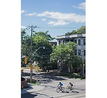 City Cyclists Photographic Print
