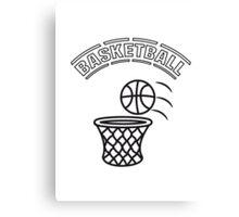 Basketball play basket Canvas Print