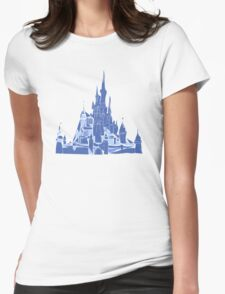 Disney Castle Womens Fitted T-Shirt