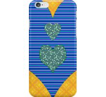 Blue and Flower Hearts iPhone Case/Skin