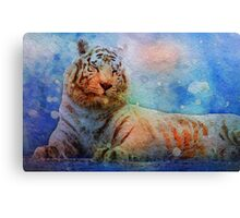 Mostly White: Red Tabby White Tiger Canvas Print