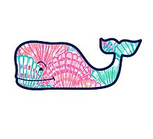 Vineyard Vines Whale Sticker Lilly Pulitzer Inspired Print Photographic Print