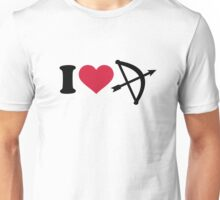 I love Archery arrow bow Unisex T-Shirt