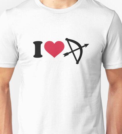 I love Archery arrow bow Unisex T-Shirt