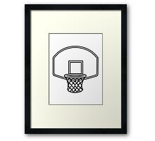 Basketball basket sports Framed Print