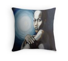 Alone with the moon Throw Pillow