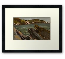 Rocks at Mansands Framed Print