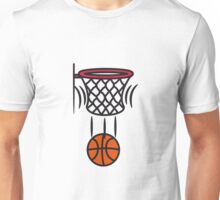 Basketball korb point Unisex T-Shirt
