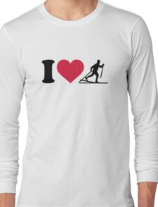 I love Cross-country skiing Long Sleeve T-Shirt
