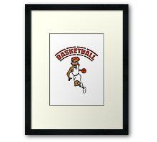 Basketball basket combat sports Framed Print