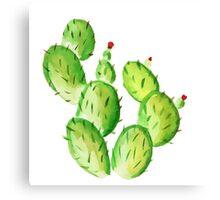 watercolor cactus print Canvas Print