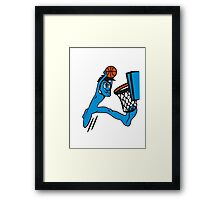 Basketball win basket sports Framed Print