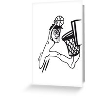 Basketball win basket sports Greeting Card