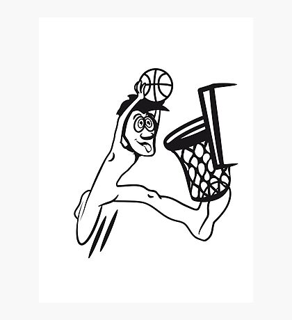 Basketball win basket sports Photographic Print
