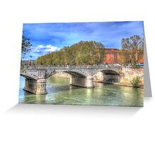 The Tiber in Rome Greeting Card