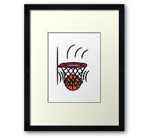 Basketball basket win point Framed Print