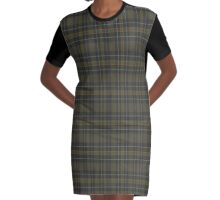 02558 Camden County, New Jersey Fashion Tartan Graphic T-Shirt Dress