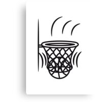 Basketball basket win point Canvas Print