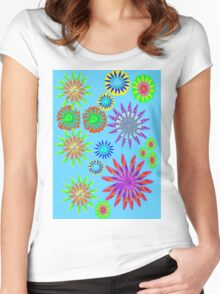 Fancy Fresh Floral Design Women's Fitted Scoop T-Shirt
