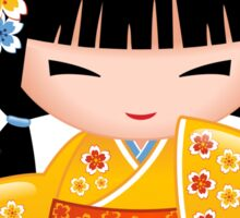 Japanese Summer Kokeshi Doll Sticker