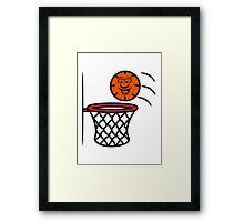 Basketball basket pleasure sports Framed Print