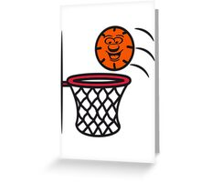 Basketball basket pleasure sports Greeting Card