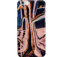 Black-Peach Moonlight River Tree iPhone Case/Skin