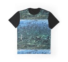 Oh! Hai! -Blue Green Wave Graphic T-Shirt