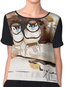 Double Bar Finches Chiffon Top