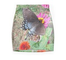 Butterfly on Zinnias Mini Skirt