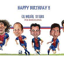 FCB Barcelona Stars- Happy Birthday! by carloscastro