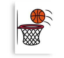 Basketball basket Canvas Print