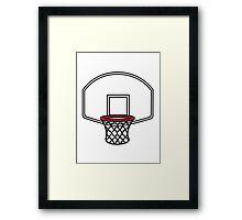 Basketball basket Framed Print