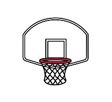 Basketball basket Photographic Print