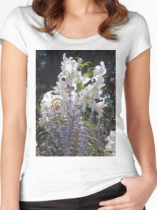Beautiful Blooming Flower Bouquet Women's Fitted Scoop T-Shirt